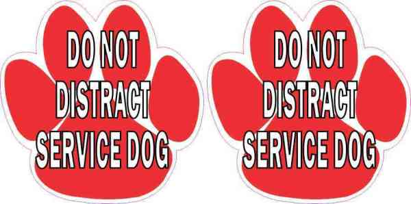 Do Not Distract Service Dog Stickers