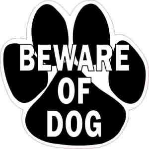 Beware of Dog Sticker