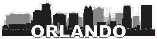 Orlando Skyline Sticker