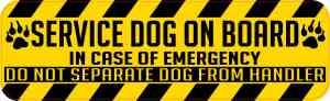 Service Dog on Board Magnet