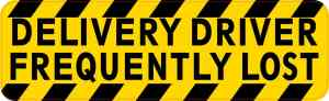 Delivery Driver Frequently Lost Sticker