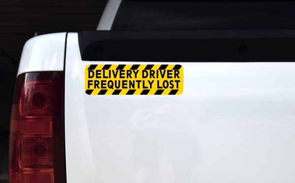 Delivery Driver Frequently Lost Magnet