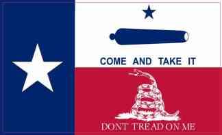 Gonzales Gadsden Texas Flag Sticker