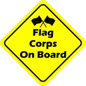 Flag Corps On Board Magnet