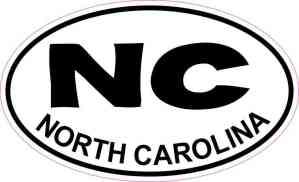 Oval NC North Carolina Sticker
