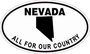 Oval Nevada All For Our Country Sticker