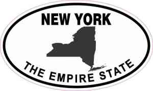 Oval New York The Empire State Sticker