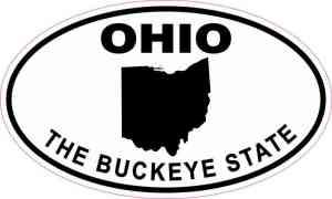 Oval Ohio The Buckeye State Sticker