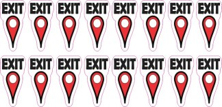 Exit Map Pointer Stickers