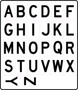Alphabet Letter Stickers