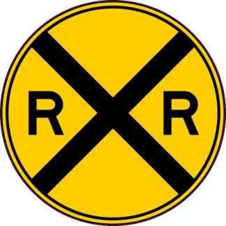 Railroad Crossing Sign Sticker