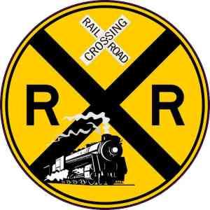 Train Railroad Crossing Sticker