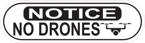 Oblong Symbol Notice No Drones Sticker