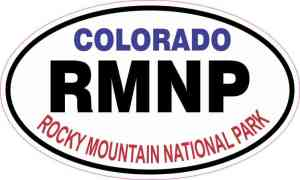 Oval Rocky Mountain National Park Sticker