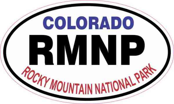 Oval Rocky Mountain National Park Sticker