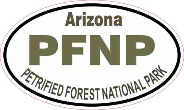 Oval Petrified Forest National Park Sticker