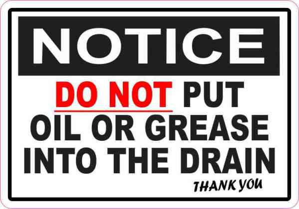 Do Not Put Oil or Grease into Drain Magnet