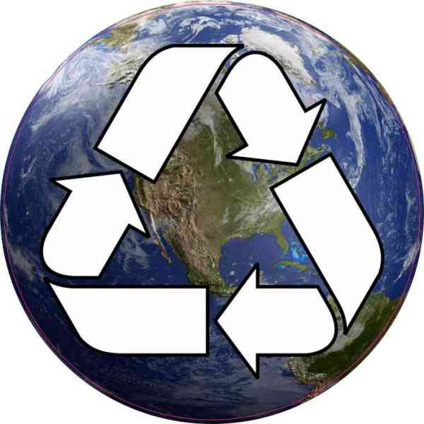 Earth Recycle Sticker