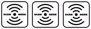 Scan Here Stickers