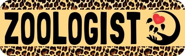 Leopard Print Zoologist Bumper Sticker