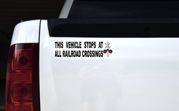 Vehicle Stops at All Railroad Crossings Magnet