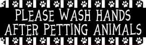 Wash Hands After Petting Animals Sticker