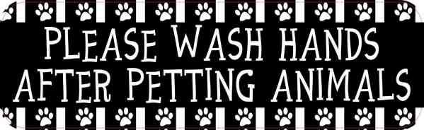 Wash Hands After Petting Animals Sticker