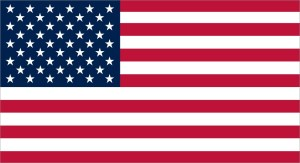 Proportional USA Flag Sticker