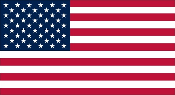 Proportional USA Flag Sticker