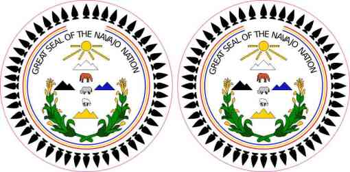 Great Seal of the Navajo Nation Stickers