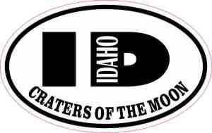 Oval ID Craters of the Moon Sticker