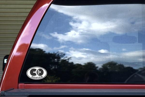 Oval CO Denver Colorado Sticker