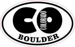 Oval CO Boulder Colorado Sticker