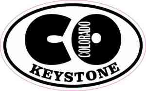 Oval CO Keystone Colorado Sticker