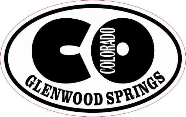 Oval CO Glenwood Springs Colorado Sticker
