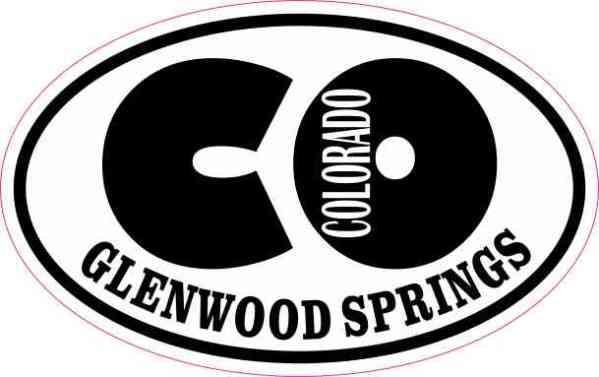 Oval CO Glenwood Springs Colorado Sticker