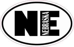 Oval NE Nebraska Sticker