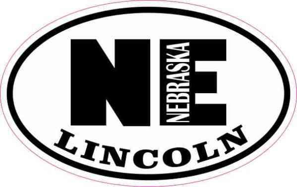 Oval NE Lincoln Nebraska Sticker