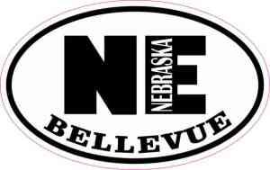 Oval NE Bellevue Nebraska Sticker