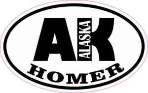 Oval AK Homer Alaska Sticker