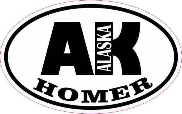 Oval AK Homer Alaska Sticker