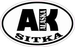 Oval AK Sitka Alaska Sticker