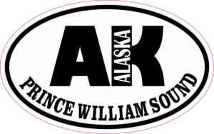 Oval AK Prince William Sound Sticker
