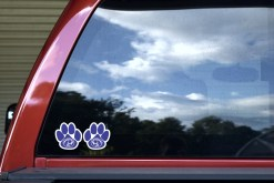 Mirror Blue Cougar Paw Stickers