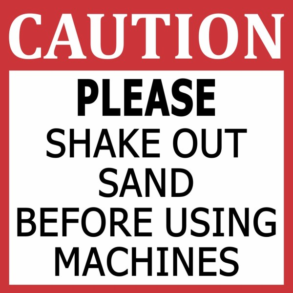 Shake Out Sand Magnet