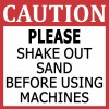 Shake Out Sand Sticker