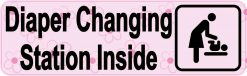 Pink Diaper Changing Station Sticker