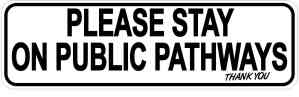 Stay on Public Pathways Sticker