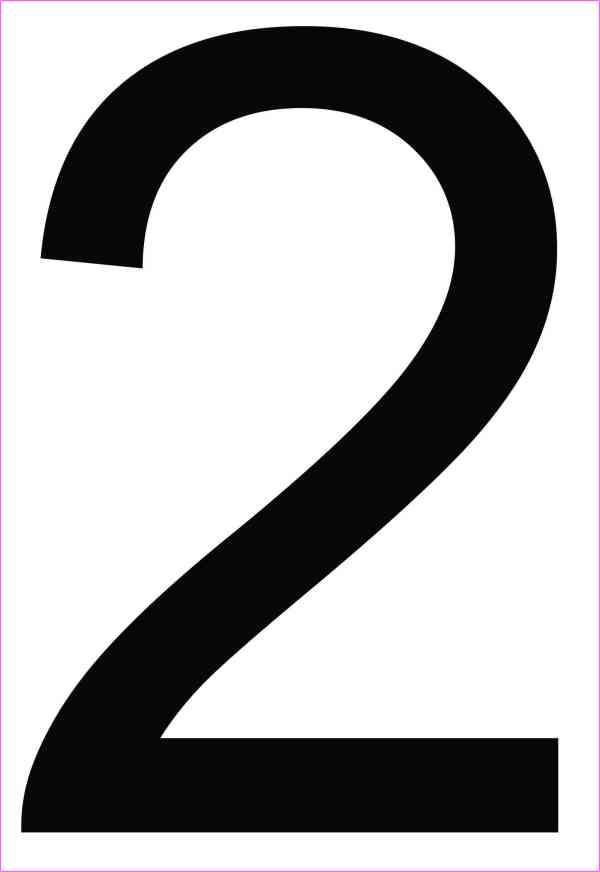 Address Number 2 Sticker
