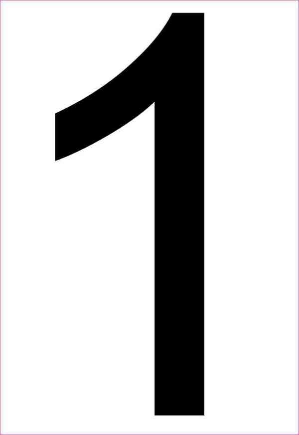 Address Number 1 Sticker